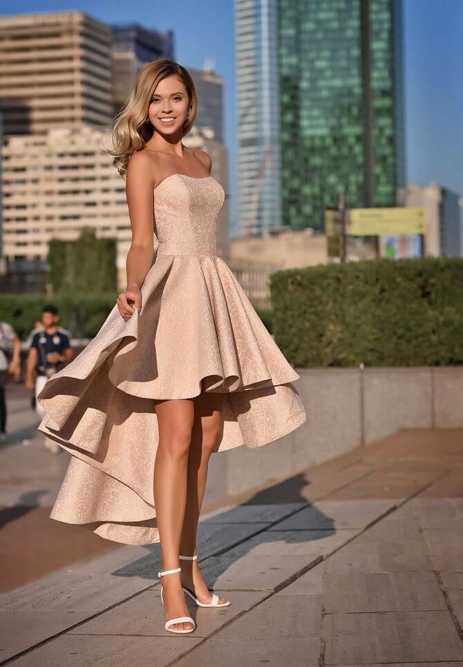 02 Cocktail asymmetric dress