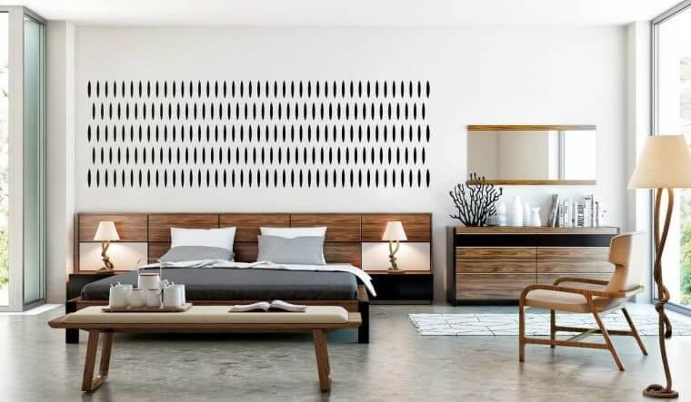 03. Scandinavian style 2021 trendy bedroom