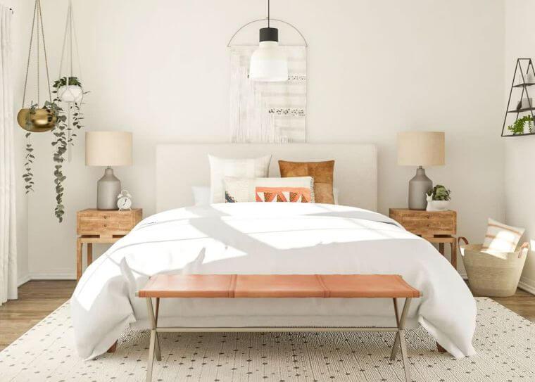 08. Trendy bedroom 2021 in retro style