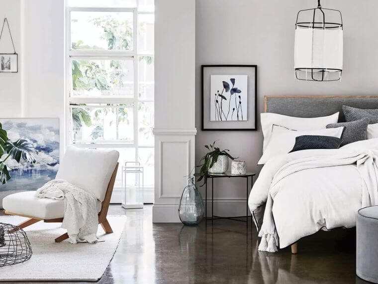 10. Light gray seems like a perfect color for the bedroom decor