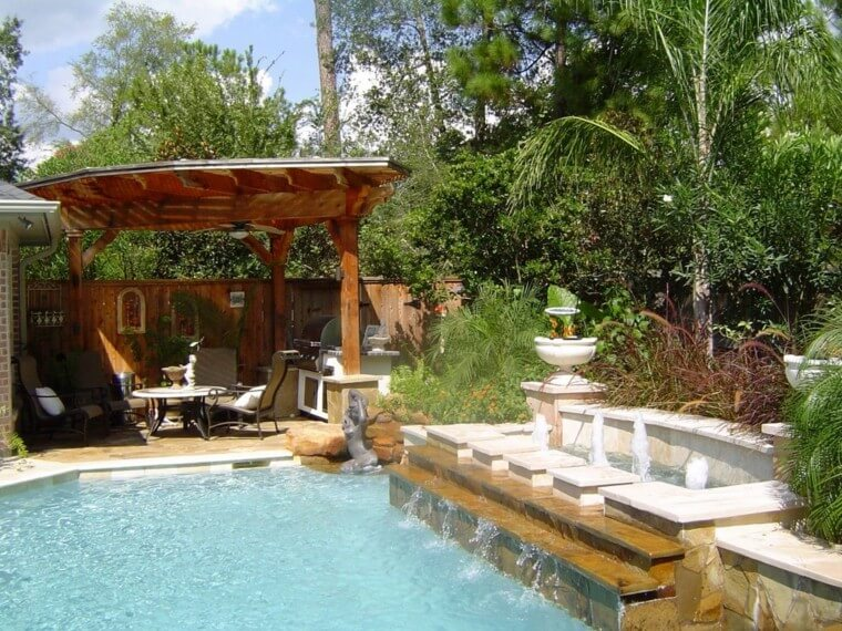 11 Outdoor landscaping ideas with swimming pool pergola