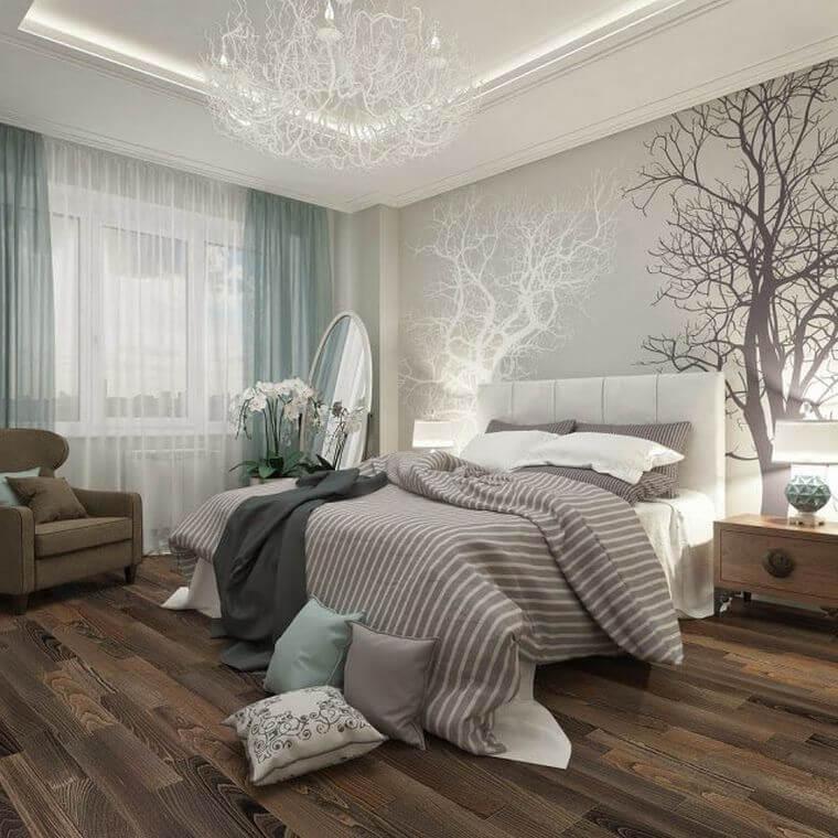 12. Original contemporary bedroom decor idea