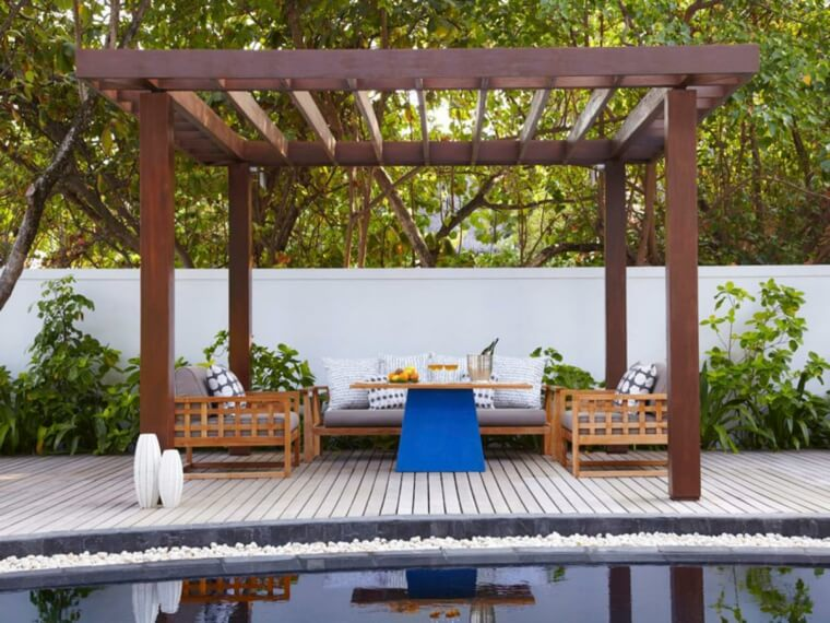 14 Outdoor landscaping ideas with swimming pool pergola