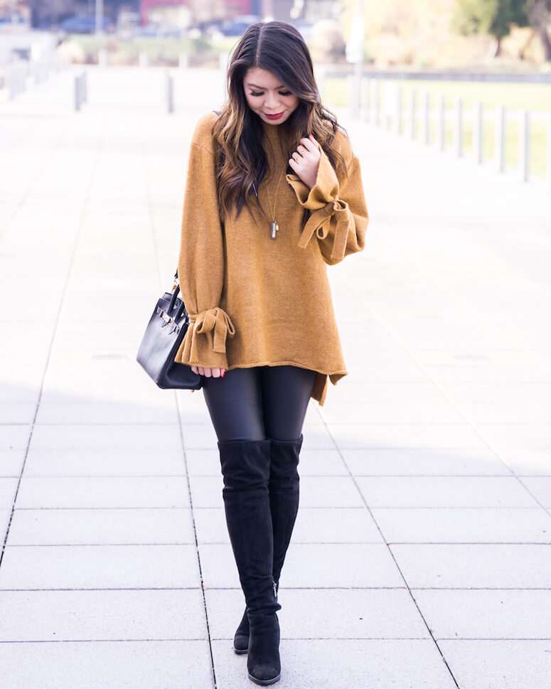 14. Legging + boot over the knee = a partnership that works very well