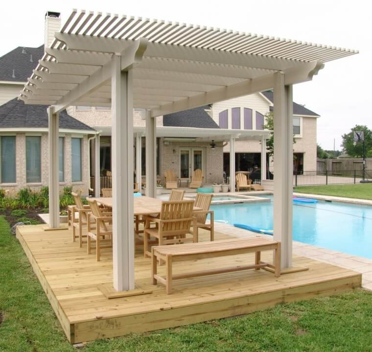 15 Outdoor landscaping ideas with swimming pool pergola