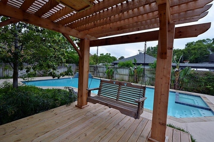 17 Outdoor landscaping ideas with swimming pool pergola