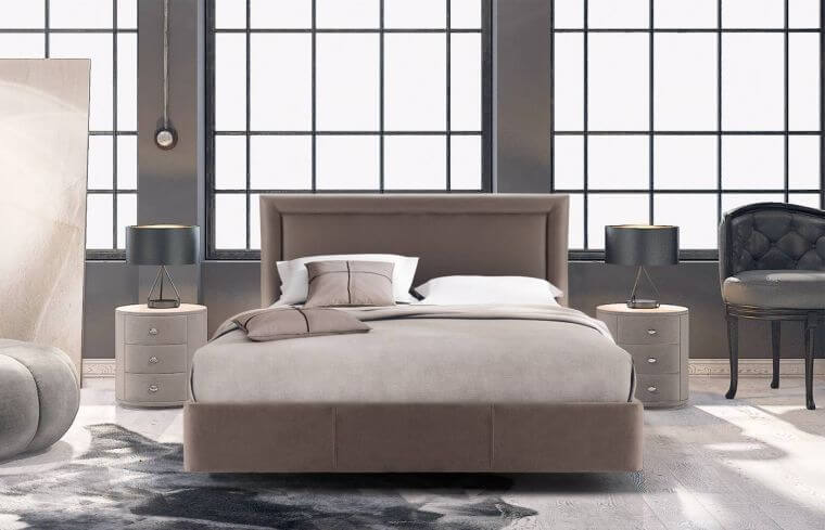 20. Modern adult bedroom decorated with neutral colors like beige and gray