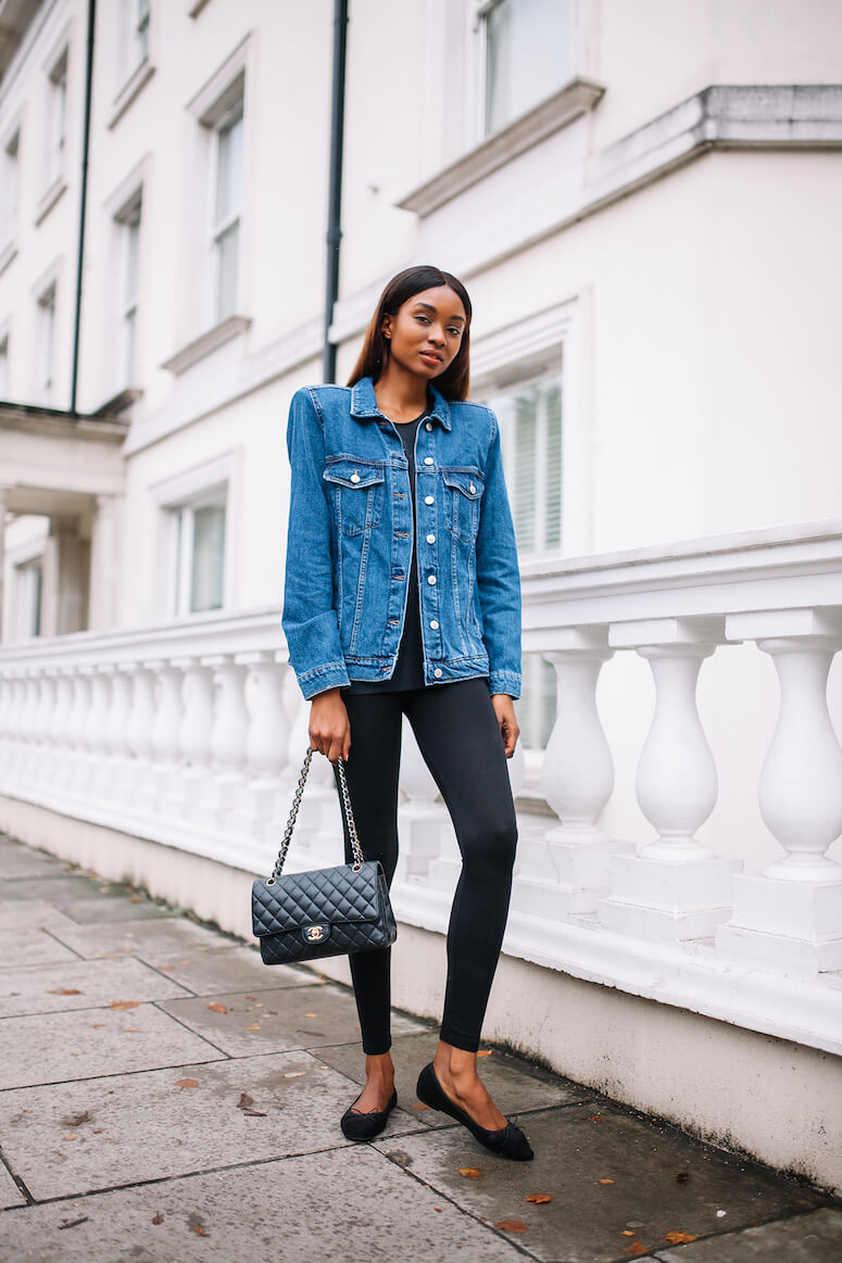 20. The denim jacket adds more youth to the look