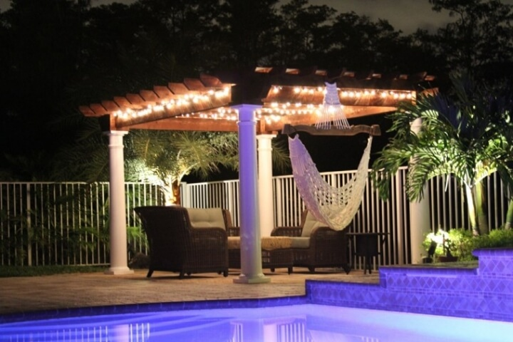 21 Outdoor landscaping ideas with swimming pool pergola