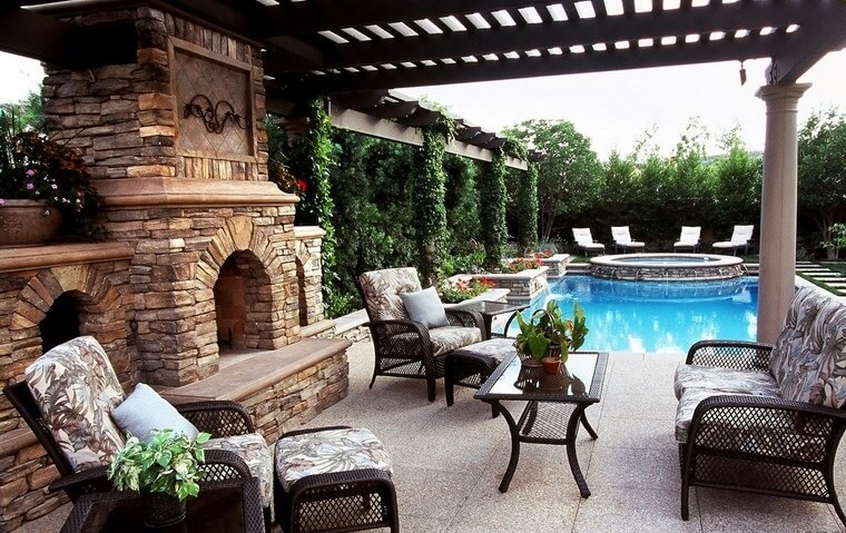 24 Outdoor landscaping ideas with swimming pool pergola