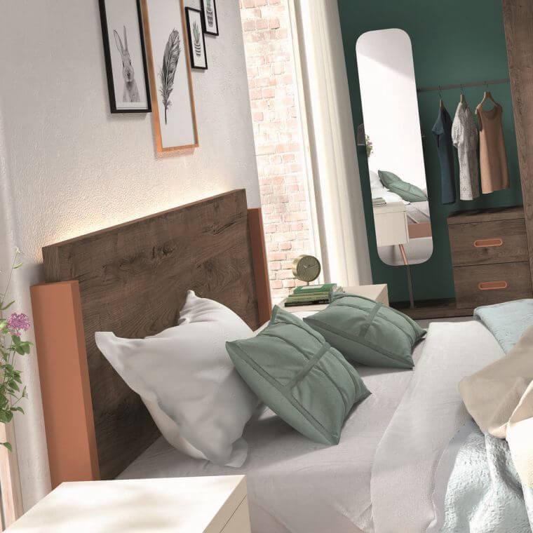 24. Modern furniture idea for adult bedroom in dark wood