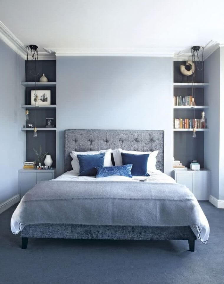 27. Blue is a very calming color for decorating the modern adult bedroom