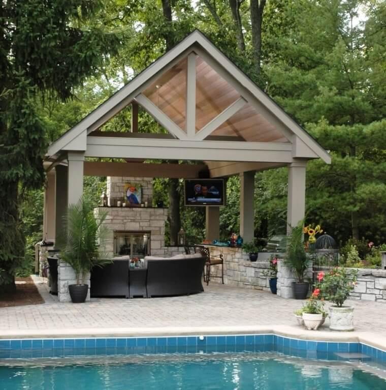 29 Outdoor corner arrangement with shelter
