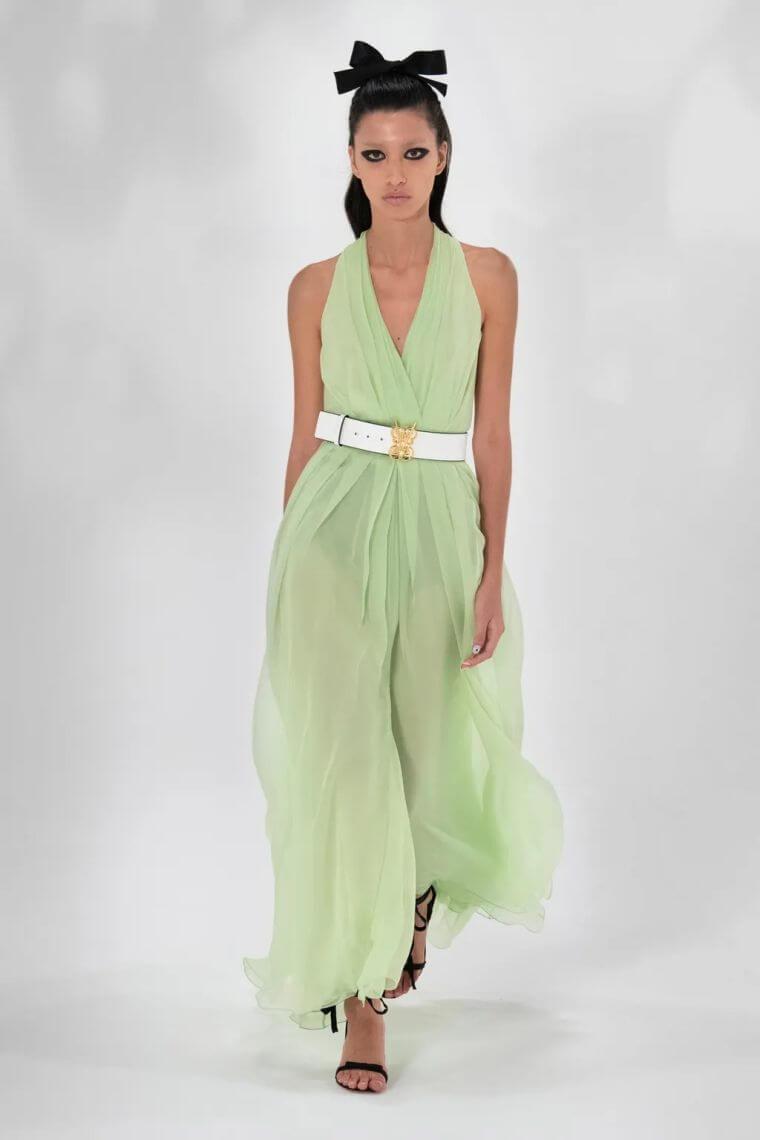 31. Long semi-transparent dress