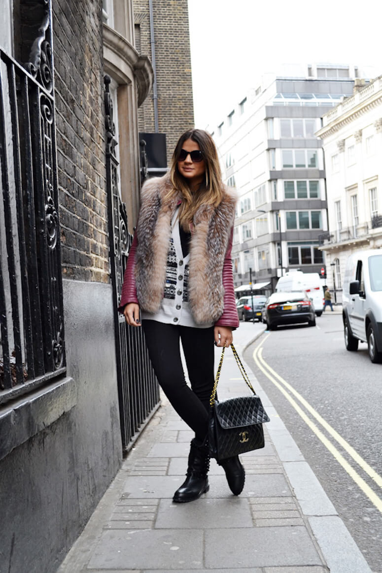 35. And if the idea is to be daring, a fur vest is always welcome