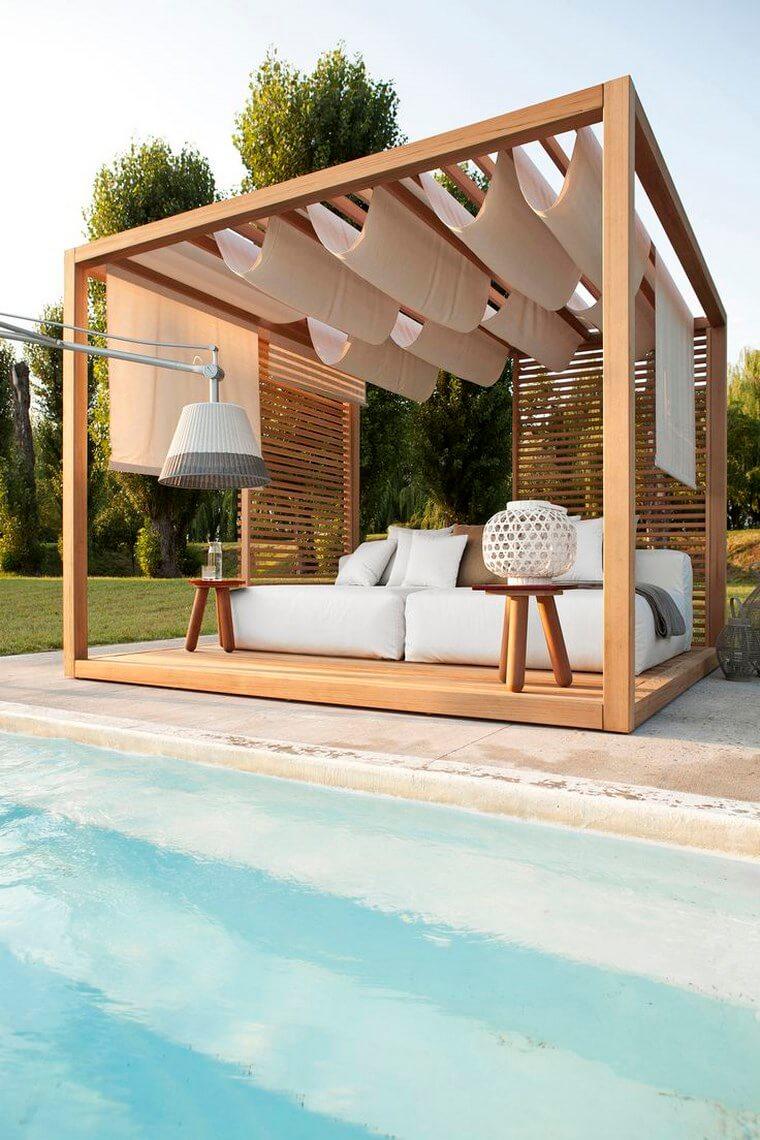 Pool pergola - landscaping and exterior decoration ideas
